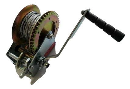 Ръчна лебедка Rudimpex M1000 - 453kg / 1000LB с 10м стоманено въже - за автомобил - лодка -  ATV - платформа- 00520   Rudimpex.com