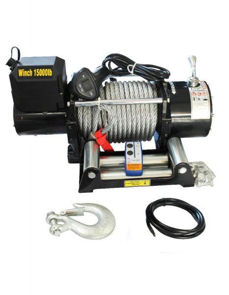 Електрическа лебедка 12V - 6804кг / 15000LB | Rudimpex.com- 2 години гаранция