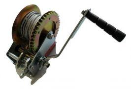 Ръчна лебедка Rudimpex M1000 - 453kg / 1000LB с 10м стоманено въже - за автомобил - лодка -  ATV - платформа- 00520 | Rudimpex.com