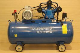 Компресор за въздух  Italy Compressor Professional - 300 литра резервоар -12 бара, дебит на въздух 1200 л/мин, 10 hp - трифазен - маслен   Rudimpex.com