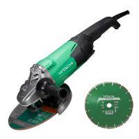 Ъглошлайф Hitachi ф 230 мм 2200W - 3 години гаранция | Rudimpex.com