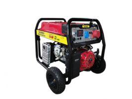 Бензинов генератор 7.5 KW за трифазен и монофазен ток с ел. стартер и транспортна количка