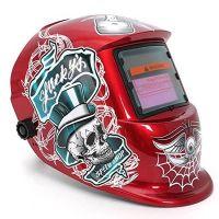 Соларна маска за заваряване  - Автоматична- Red- регулиране на затъмнението 9-13
