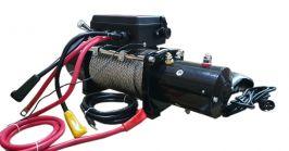 Електрическа лебедка за пътна помощ 12 V - 13500 Lbs / 5950 кг. - 4.5 kw - стоманено въже 27 метра/9.5 мм - дистанционно - защитен калъф - ръкавици | Rudimpex