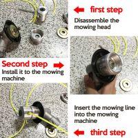 Метална кордова глава за храсторези/моторни коси за многократна употреба