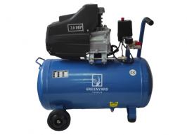 Компресор за въздух GREENYARD Tools GY-AC24-Blue - Резервоар  24 литра - 8 бара -  два манометъра - 178 л/мин - високо качество    Rudimpex.com