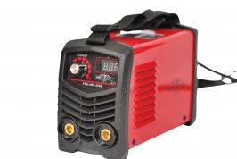 Инверторен електрожен SUPER MINI ММА200 - IGBT - ARC - VRD - 6.5 kVA - 220V - 200 реални ампери - горещ старт -  маска за електрожен - ръкохватка  -  кабели - електроди до 4 мм - високо качество - 1 година гарaнция
