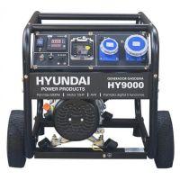 Мотогенератор HY 9000К - 6,5 kW с колела и дръжки HYUNDAI