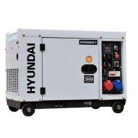 Мотогенератор трифазен / монофазен дизелов обезшумен DHY 8600SE/Т- 7,9 kVА / 6,0 kW, ел. стартер HYUNDAI