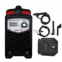 Инверторен електрожен MMA140 - IGBT- ARC- 140 реални ампера - 4.8 kVA - с цифров LED дисплей - маска - ръкохватка - кабели - електроди до 3.2 мм  | Rudimpex.com