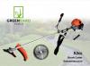 Мощна Моторна коса GREENYARD - 52 куб.см - 1.64 kW - 2.2 к.с - с  прав прът - кордова глава - тризъб диск - презрамен колан - циркулярен диск - защитни очила | Rudimpex.com