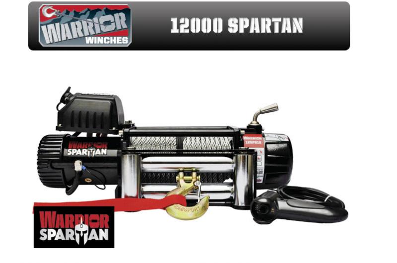 Електрическа лебедка CHAMPION / WARRIOR 12V 12000 LBS модел SPARTAN - внос от Англия -1 година гаранция | Rudimpex.com