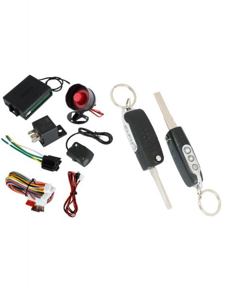 Автоаларма със сгъваем ключ (имобилайзер + централно заключване + 2 броя дистанциони + шоков датчик ) с 50% отстъпка от Rudimpex.com G10/G2190
