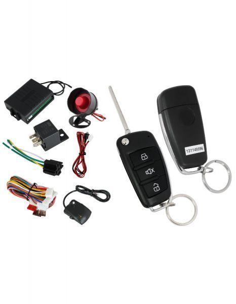 Автоаларма със сгъваем ключ(имобилайзер + централно заключване + 2 броя дистанциони + шоков датчик) за 44 лв. вместо 88 лв. с 50% отстъпка от Rudimpex.com