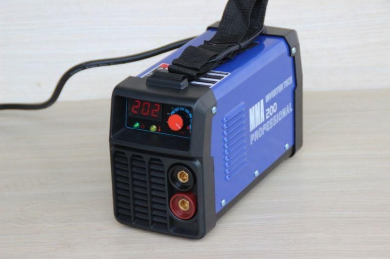Инверторен електрожен IGBT MMA 200A MINI-BLUE - дигитален дисплей - електроди 1-5 мм | Rudimpex.com