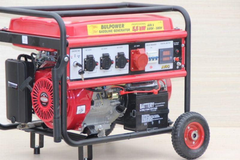 Генератор за ток - 5,5 KW - Бензинов - Трифазен - Синхронен -18 месеца гаранция | Rudimpex.com