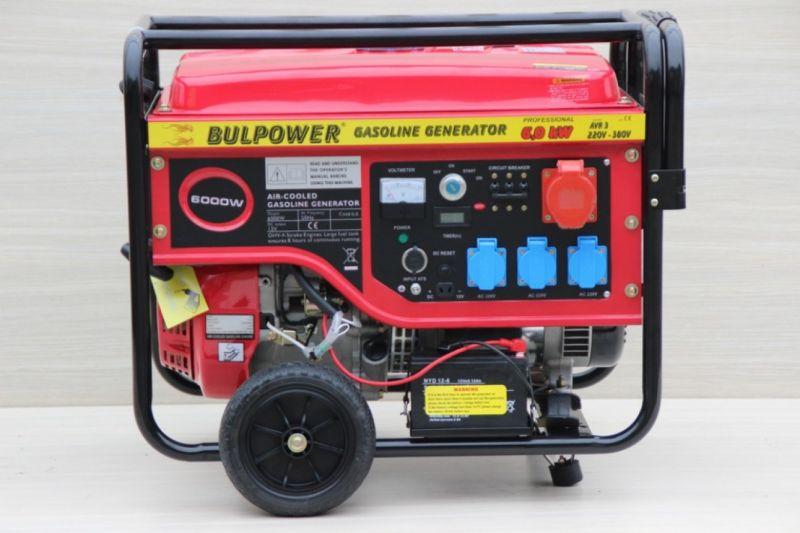 Генератор за ток Bulpower - 6.0 KW трифазен със eл. стартер бензин-18 месеца гаранция  | Rudimpex.com