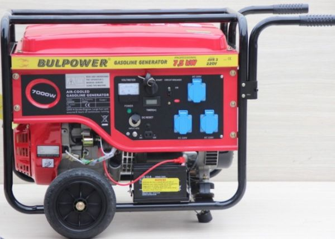 Генератор за ток Bulpower  - 7.5KW - бензинов - монофазен с ел. старт - 18 месеца гаранция | Rudimpex.com