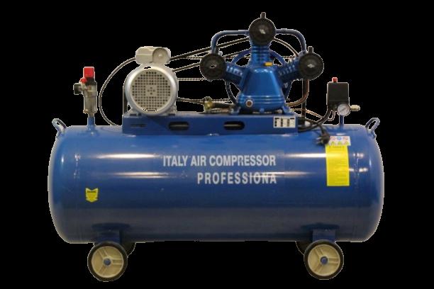 Компресор за въздух Italy - 100 литра резервоар - маслен - триглав - 8 бара, дебит на въздух 360 л/мин, 3000 W | Rudimpex.com