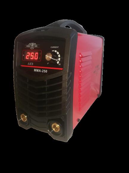 Инверторен IGBT електрожен  - ММА 250А с дигитален дисплей - електроди 1 мм до 5 мм - 1 година гаранция