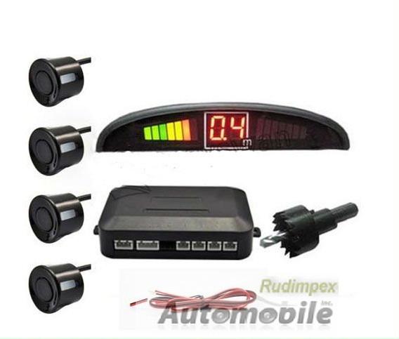 led 4 capteur parking stationnement radar de recul voiture car kit sonore alarme. Black Bedroom Furniture Sets. Home Design Ideas