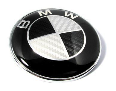 Carbon Bmw E36 E38 E39 E30 E46 E34 Hood Front Badge 82mm