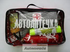 """СЪДЪРЖАНИЕ НА АВТО АПТЕЧКА ЗА КОЛА СВЕТООТРАЗИТЕЛЕН АВТО АПТЕЧКА """"RUDIMPEX"""" first aid kit"""