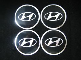 4 x 60mm HYUNDAI Sticker Emblem Logo Rimsticker