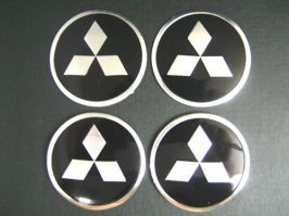 4 x 60mm MITSUBISHI Sticker Emblem Logo Rimsticker