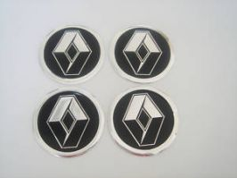 4 x 60mm RENAULT Sticker Emblem Logo Rimsticker