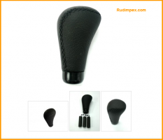 Leather Black Shift Gear Knob Universall