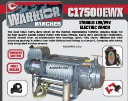 Електрическа лебедка CHAMPION / WARRIOR за автовози, камиони  17500 EWX -24V- 7938 kg/ 17500 LBS - внос от Англия - 1 година гаранция | Rudimpex.com.