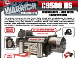 БЕЗПЛАТНА ДОСТАВКА ! Електрическа лебедка CHAMPION /  WARRIOR - 12V  - 4309kg/ 9500 LBS PERFORMANCE - CHAMPION WINCH - внос от Англия - 1 година гаранция | Rudimpex.com