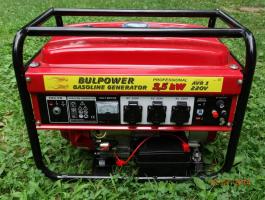 Генератор за ток 3.5 KW със ел. стартер бензин - 1 година гаранция | Rudimpex.com