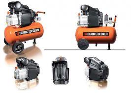Компресор за въздух Black&Decker 24л-2 hp.- 2 години гаранция