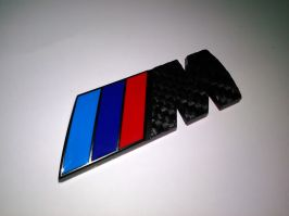 2 PC  emblem BADGE LOGO BMW M for M1 - M3 - M4 - M5 - M6 - M7 - Z4 - Z3 Roadster - Performance - Power Coupe