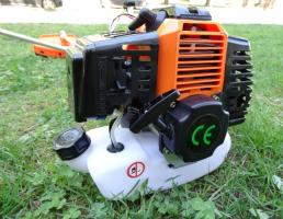 Моторна коса 1.8 kW с цял прът, корда - тризъб нож - професионален самар - каска | Rudimpex.com
