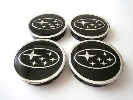 комплект от 4 броя КАПАЧКИ ЗА ДЖАНТИ 55мм / 60 мм SUBARU център гуми капачки значки емблеми за коли / автомобили