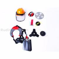 Мощна Моторна коса - 52 куб.см - 1.8 kW с ЧУПЕЩ прът, корда - тризъб нож - професионален самар - каска - циркулярен диск | Rudimpex.com