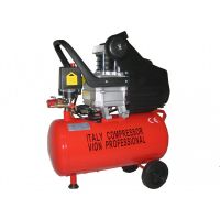 Компресор за въздух Vion Professional - Резервоар  24 литра, 8 бара, дебит на въздух 130 л/мин, 1800 W | Rudimpex.com