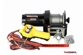 Лебедка електрическа PowerWinch PW2000 lb,ATV, UTF,леки платформи- 2 години гаранция