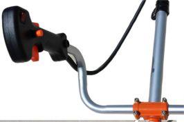Мощна Моторна коса - 52 куб. см - 1.8 kW с ЧУПЕЩ прът, корда - тризъб нож - професионален самар - каска | Rudimpex.com