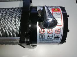 Електрическа лебедка за джип и пътна помощ 12 V - 13500 Lbs / 6136 кг. - 4.5 kw - 6 к.с. - стоманено въже 26 метра / 9.5 мм - безжично дистанционно - 1 година гаранция | Rudimpex