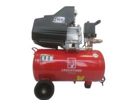 Качествен професионален Компресор за въздух GREENYARD GY-AC24 - Резервоар  24 литра - 8 бара -  два манометъра - 178 л/мин -  100% медни намотки  | Rudimpex.com