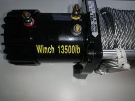 Високо качество електрическа лебедка  G13500W LBS - ЗА ДЖИПОВЕ и Платформи за пътна помощ 12 V - 5950 кг.-13500 Lbs с планка за монтаж - 4x4 - Off-road -  Гаранция