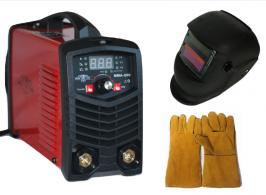 Високо качество Инверторен IGBT електрожен ММА 200А реални ампери - с дигитален дисплей и соларна маска с ръкавици -електроди 1 мм до 4 мм - 1 година гаранция