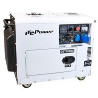 Мотогенератор дизелов монофазен обезшумен DG 7800SE - 6,3 kW, ел. стартер ITC Power