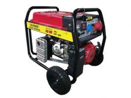 Бензинов генератор 9.0 KW за трифазен и монофазен ток с ел. стартер и транспортна количка - 2 години гаранция