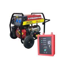Бензинов генератор 7.5 KW за монофазен ток с ел. стартер и транспортна количка - ATS табло- 2 години гаранция