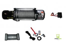 Електрическа лебедка за джип и пътна помощ GY13500 - 12 V - 13500 Lbs / 6136 кг. - 4.5 kw - 6 к.с. - стоманено въже 26 метра / 9.5 мм - 1 година гаранция | Rudimpex